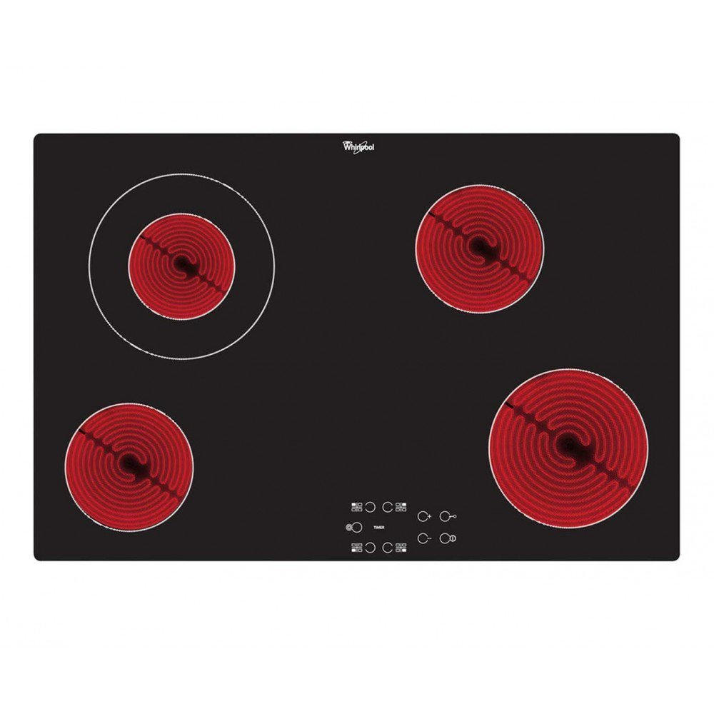 Whirlpool AKT833/NE | 4 Zone, Electric, Built in, 77cm Frameless Touch Control Ceramic Hob Cookology