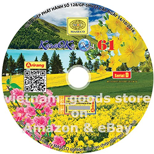 Arirang Karaoke Vision Midi Disc Vol 61 Serial D Vietnamese English For Arirang Player AR 909 HD / AR 3600 HD / AR 3600 KTV