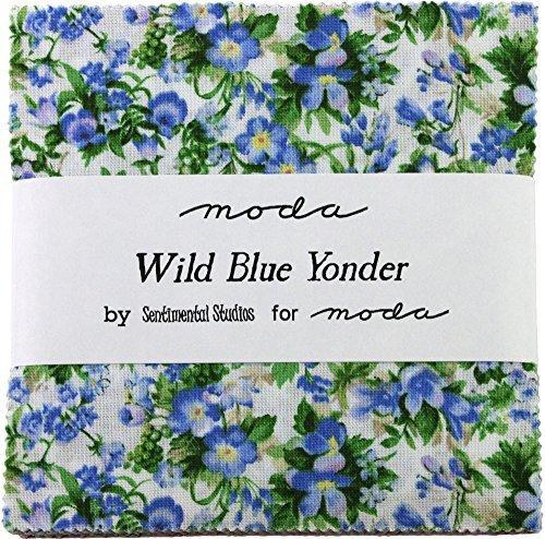 Wild Blue Yonder Charm Pack by Sentimental Studios; 42-5