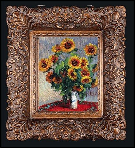 (overstockArt Framed Oil Painting Sunflowers Claude Monet, 19.5