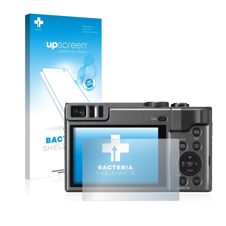 Anti-Reflejos, upscreen Protector de Pantalla Mate Compatible con Panasonic Lumix DC-TZ90 Lumix DC-TZ96 Pel/ícula Protectora Antibacteriana