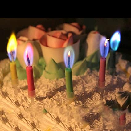 Buy Generic Birthday Candles For The Cake Colour Flame Candle Blowing Wedding Anniversary Happy Online At Low Prices In India