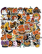 Aesthetische stickers van vinyl, waterdicht, pompoenen schedel, grappige vakantie-decoratie voor laptop, scrapbook, waterfles, skateboard, party, decoratie benodigdheden