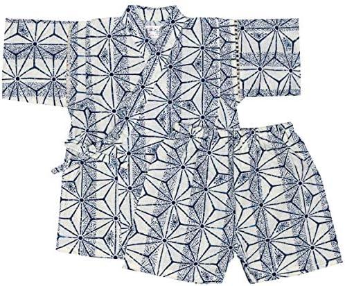 アスナロ(甚平) 甚平 キッズ 男の子 子供 麻の葉柄 和柄 綿100% 上下スーツ 部屋着