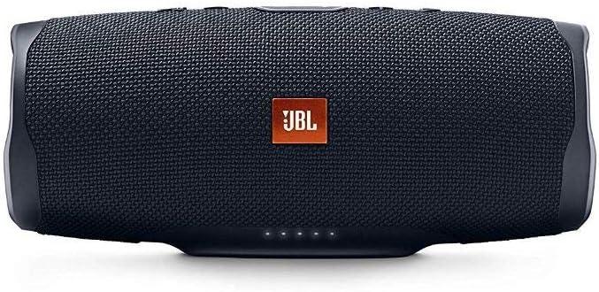 JBL Charge 4 - Altavoz inalámbrico portátil con Bluetooth, resistente al agua (IPX7), JBL Connect+, hasta 20h de reproducción con sonido de alta fidelidad, color negro