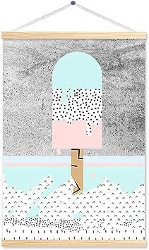 Decorazioni Murali Con Pittura.Pittura Decorativa Murale Decorazione Murale Per Bambini Stampa Ad Alta Definizione Con Cornice In Legno Massiccio Resistente All Umidita Amazon It Fai Da Te