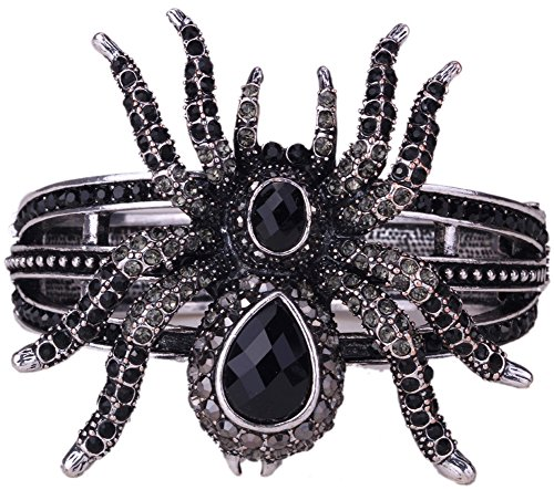 YACQ Angel Jewelry Women's Crystal Spider Bangle Bracelet Halloween Party Gifts