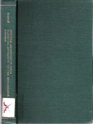 Western Manuscripts from Classical Antiquity to the Renaissance cover