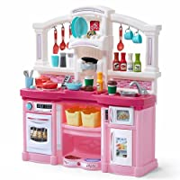 Step2 Fun with Friends Kitchen | Large Plastic Play Kitchen with Realistic Lights...