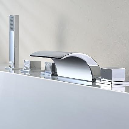 Auralum sistema de ducha para bañera con cascada de acero inox