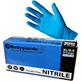 (3 x Boxes) 100 XL Bodyguard Nitrile Disposable Gloves