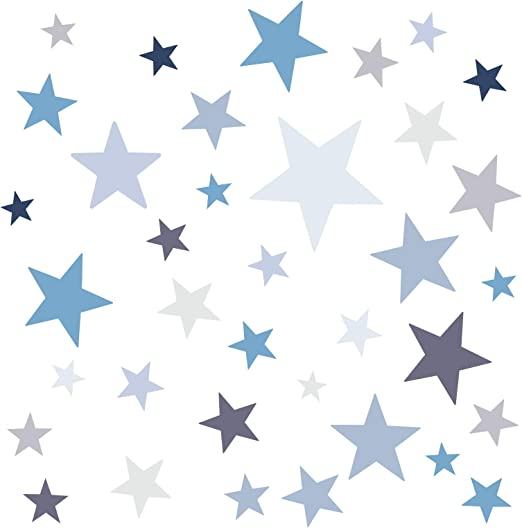 Little Deco Wandaufkleber 60 Sterne Kinderzimmer Mädchen Junge Wandtattoo DL398