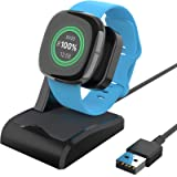 EUCARLOS Charger Dock Compatible with Fitbit Sense & Fitbit Versa 3, Charger Stand Charging Cable Dock Station Base Cradle wi