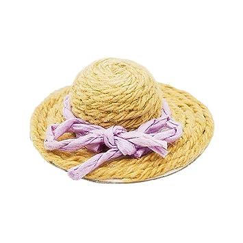 comment acheter images détaillées à vendre Odoria 1/12 Miniature Chapeau de Paille/Soleil Décoration de ...