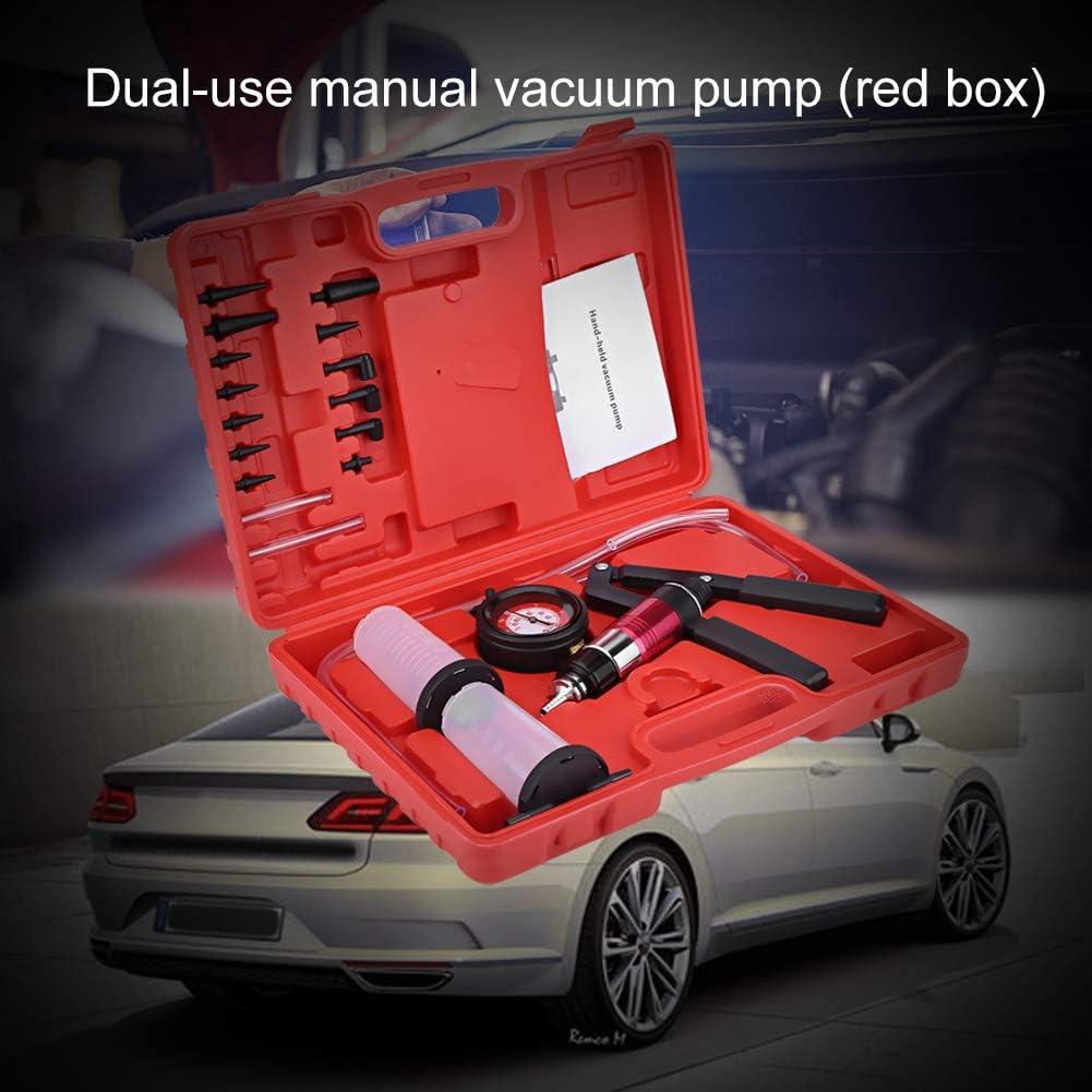 Manuelle Vakuumpumpe Handdruckpr/üfger/ät Druckpr/üfger/ätsatz f/ür Bremsentleerungswerkzeug mit Adaptern