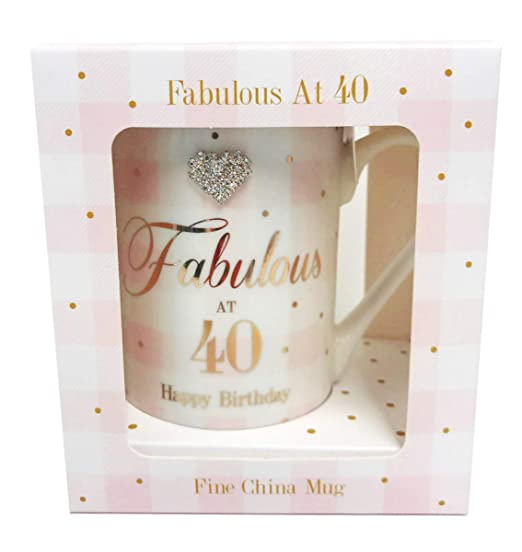 Card and Party Store Fabulosa Taza de 40 cumpleaños con ...