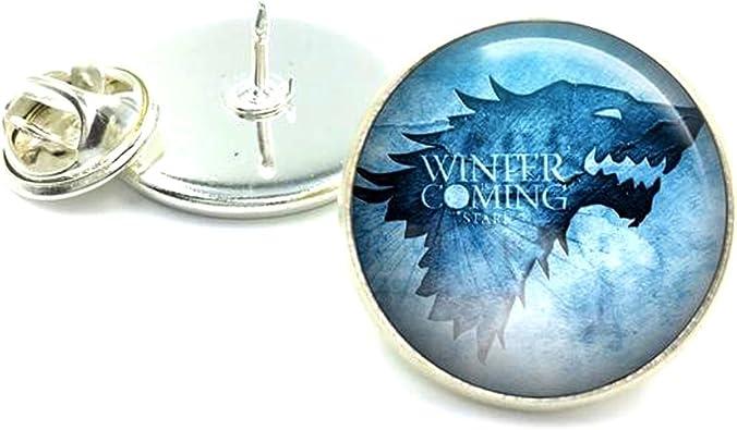 Pendientes de botón inspirados en Juego de Tronos, con diseño del lobo Stark, en un estuche de presentación: Amazon.es: Joyería