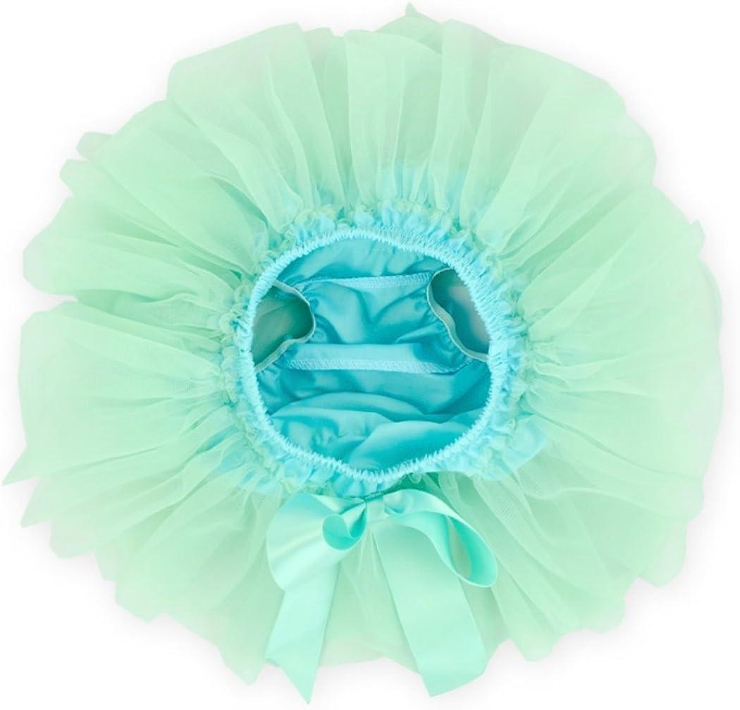 Rush Dance Tutu Soft Chiffon Ribbon Baby Ruffle Skirt Bloomers Diaper Covers