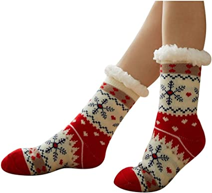 New Mens Sleep Thermal Lounge Socks Non Slip Grip Soft Bed Retro Design 1 Pair