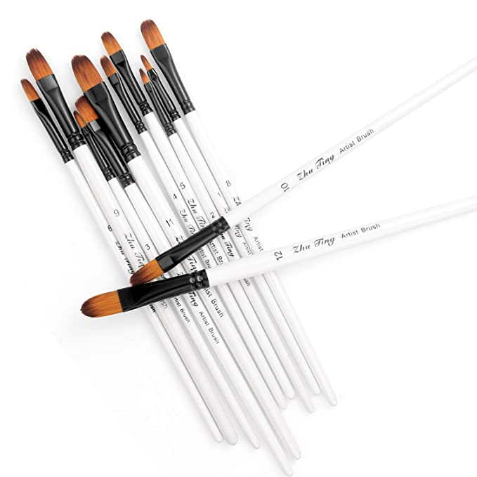 Paint Brushes, STARVAST 12pcs Artist Paint Brush Set Filbert Paint