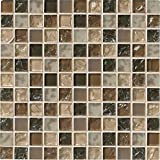 M S International Pacific Dunes 12 In. X 12 In. X 8mm Glass Mesh-Mounted Mosaic Tile, (10 sq. ft., 10 pieces per case)