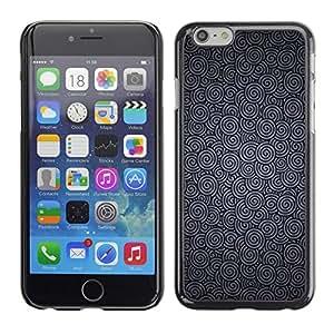 TopCaseStore / la caja del caucho duro de la cubierta de protección de la piel - Silver Grey Ripple Wallpaper Pattern - Apple iPhone 6