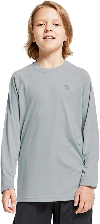 BALEAF Boys UPF 50+ Youth SPF Shirts Long Sleeve Shirt Basic Skins Sun Protection