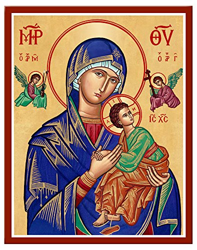 Monastery Icons Our Lady of Perpetual Help Mounted Plaque Icon Reproduction 7.8