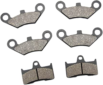 AfterMokit Replacement Front Brake Pads for CFMOTO CFORCE CF500 CF625-C 2011-2016 CF800-2 2012-2017 CF500AU-6L 2014-2017 CF500ATR-A 2015-2016 CF800ATR 2016 CF500AU-7L CF500AU-7S 2016-2017 Gold 4 Pack