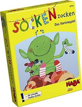 HABA 4714 Socken zocken - Juego de Cartas Infantil con Calcetines (en alemán)