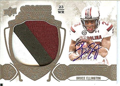 2014 Upper Deck Exquisite Collection Bruce Ellington Rookie Signatures Patch/110