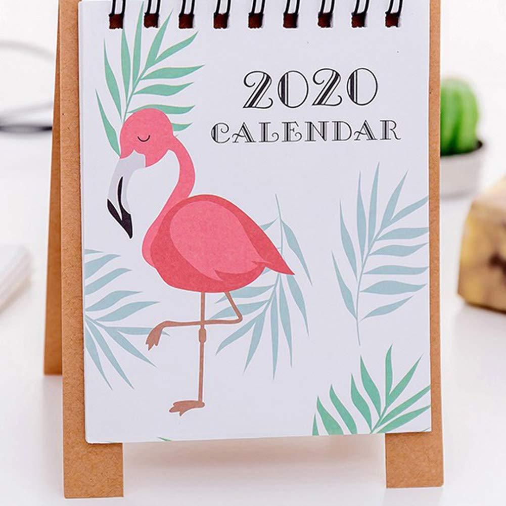 H03 Simple Mini Sobremesa Escritorio Calendario Peque/ño Fresh Creativo Cartoon Forget-Memory Peque/ño Calendario Calendario Chongfujiancai Escritorio Calendario