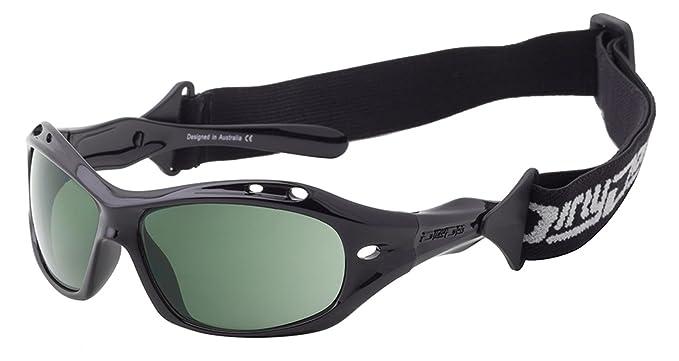 e4cc6406693 Dirty Dog 53397 Black Dd Wetglass Curl Ii Float Wrap Sunglasses Polarised  Lens  Amazon.co.uk  Clothing