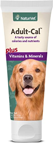 NaturVet Adult-Cal Nutritional Gel for Dogs Plus Vitamins Minerals 5 oz Nutrient Rich, High Energy Source of Calories Protein Enhanced with Omega-6 Omega-3