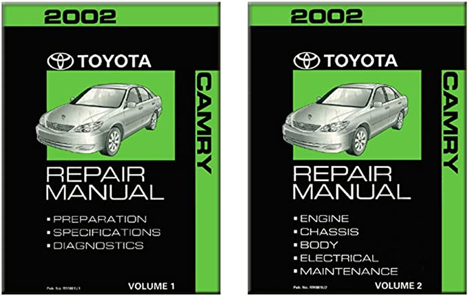 Amazon.com: 2002 Toyota Camry Shop Service Repair Manual Book Engine  Drivetrain OEM: AutomotiveAmazon.com