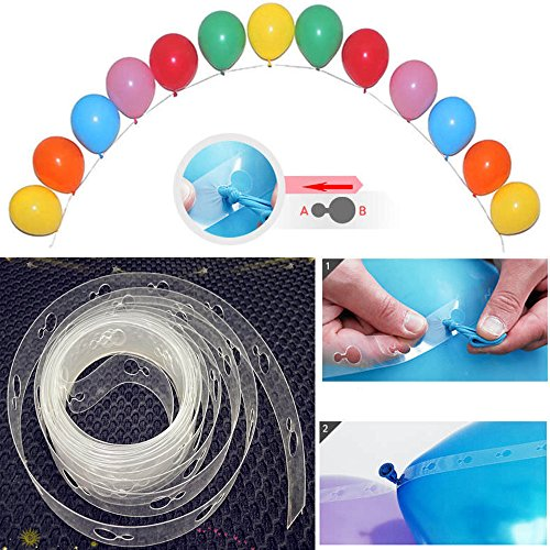 5M Balloon Decor Chain Arch Connect Strip Plastic DIY Tape Party Supplies