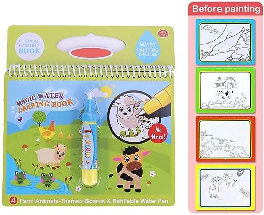 Tragbar Kinder Wasser Malbuch Malmatte Magicbook Water-Wow Children Geschenk