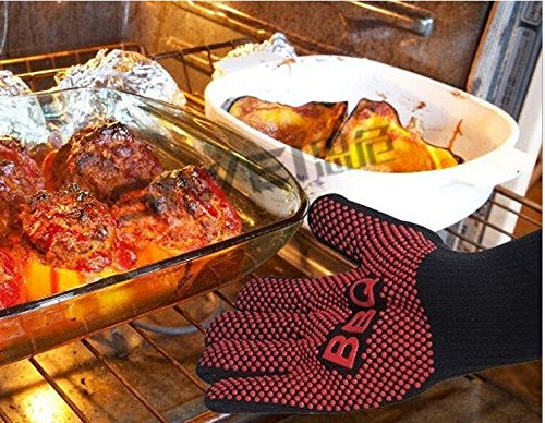 Extreme Xxl Bars - Best Heat Resistant Silicone Extreme Heat Resistant Gloves, BBQ Grilling Cooking Gloves, 1 Pair, 13