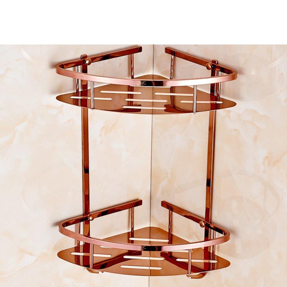 cheap European-style double triangle basket/Stainless steel gold double triangle basket/ Bath glove rack-C