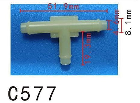 Tubo de conexión de la manguera conector de la manguera de silicona 3 T maneras 6.4