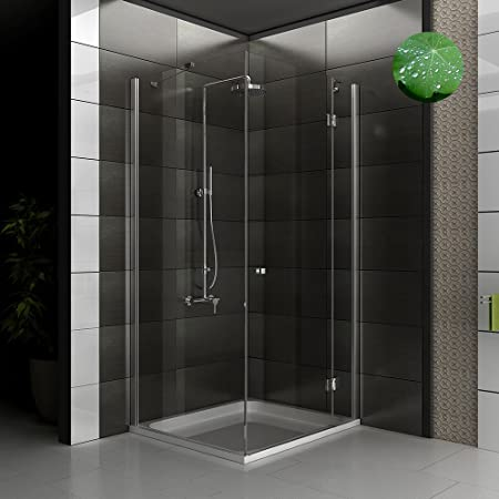 6 Mm Glass Corner Shower Enclosure With Anti Limescale 80x90x195