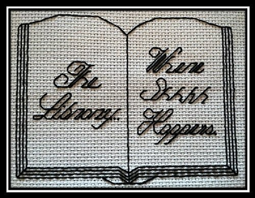 - Counted Cross Stitch Kit. The Library... Where shhhh happens.