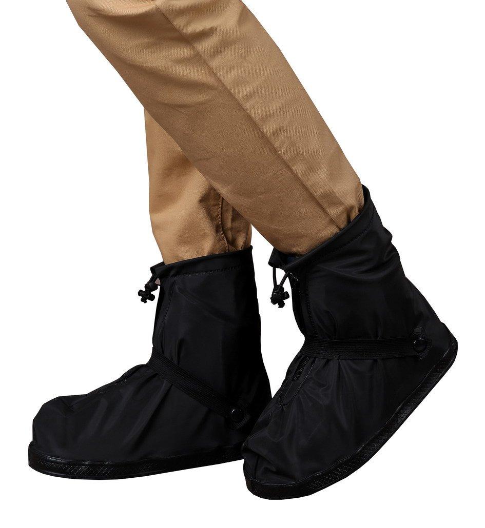 Flying Hedwig Cubierta de zapato impermeable cubierta de zapatos resistente al desgaste gruesa resistente al agua con cremallera