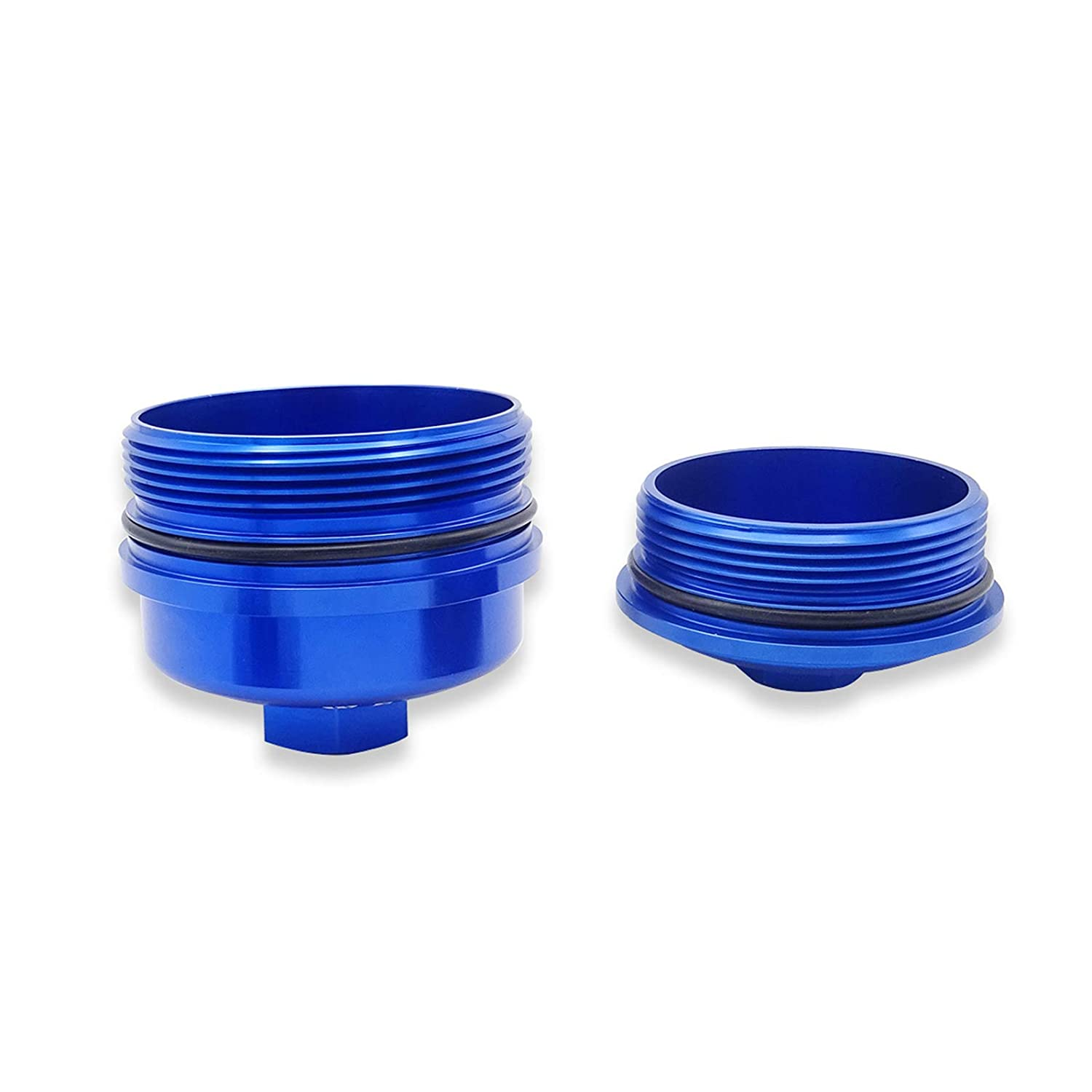 WeiSen Diesel Blue Oil Filter Cap with O-Ring For Ford Powerstroke 6.0L F250//F350 Super Duty 2003-2007 Billet Aluminum
