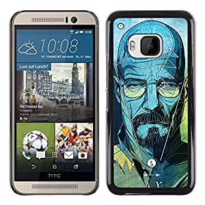 Shell-Star Arte & diseño plástico duro Fundas Cover Cubre Hard Case Cover para HTC One M9 ( Series Original Meth Walter Tv Jesse )