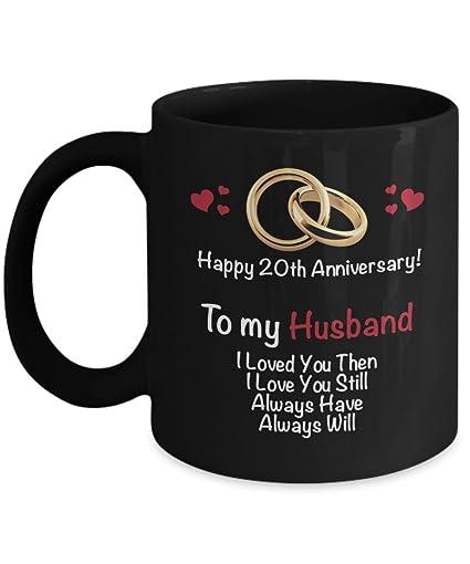 Amazon Happy 20th Year Wedding Anniversary Mug Husband 20