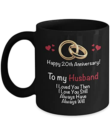 Amazoncom Happy 20th Year Wedding Anniversary Mug Husband 20