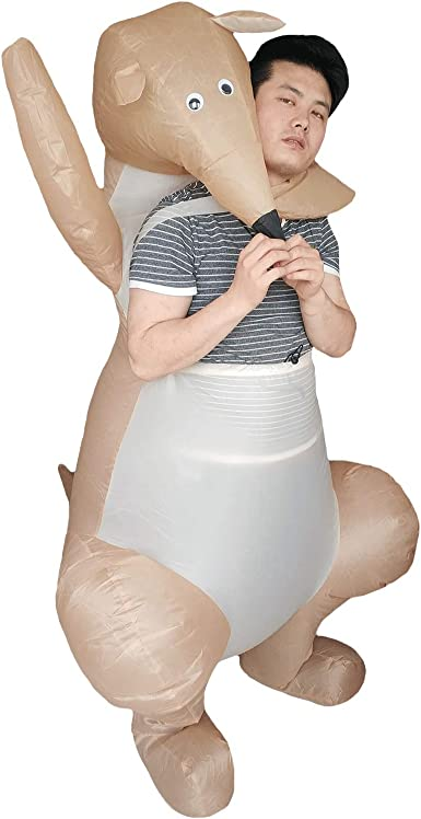 Kangaroo Costume Mens Womens Costume Adults Fancy Dress Outfit Animal Party