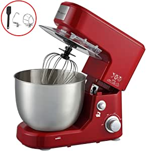 Electric Stand Mixer Blender by Healthy Choice | 5l Capacity | 1000 Watt | Egg Mixing, Spatula, | 10 Speed | Red Colour