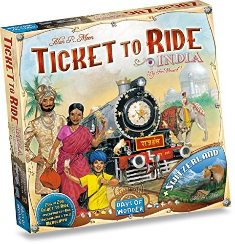 Ticket To Ride Expansion: India Map Collection by Days of Wonder